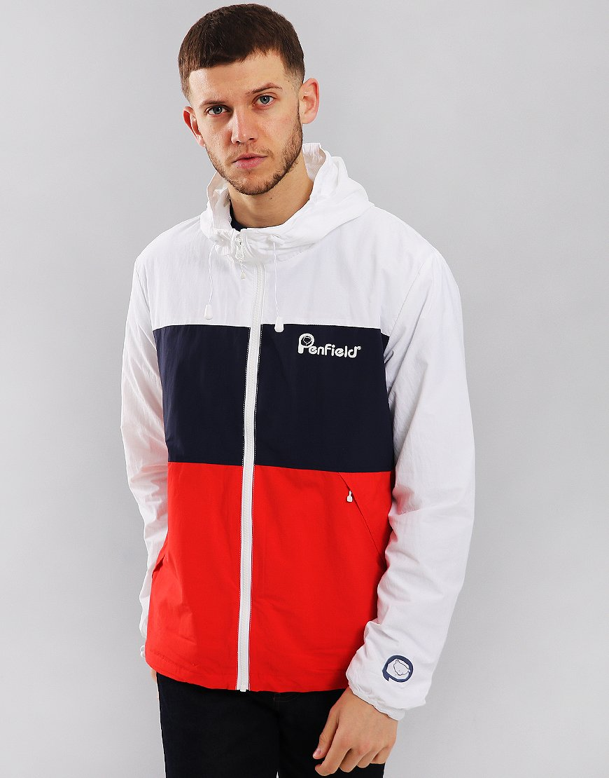 Penfield Alosa Jacket White/Navy/Red