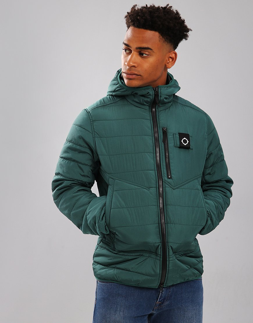 MA.Strum Pegasus Quilted Jacket Petrol