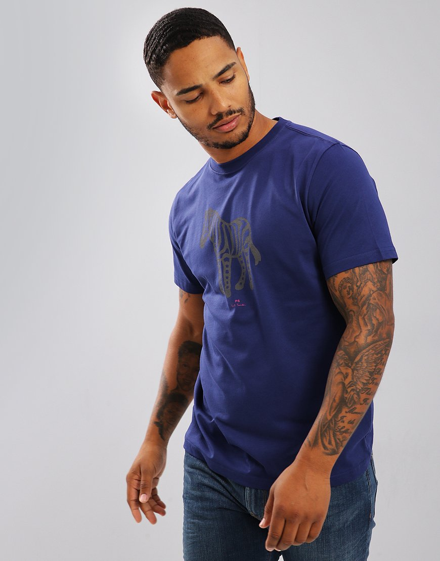 Paul Smith Zebra T-Shirt Cobalt Blue