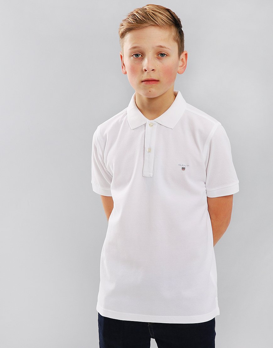 Gant Kids Pique Polo Shirt White