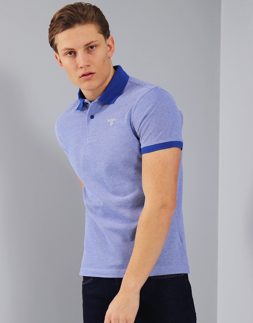 Barbour Sports Mix Polo Shirt Electric Blue