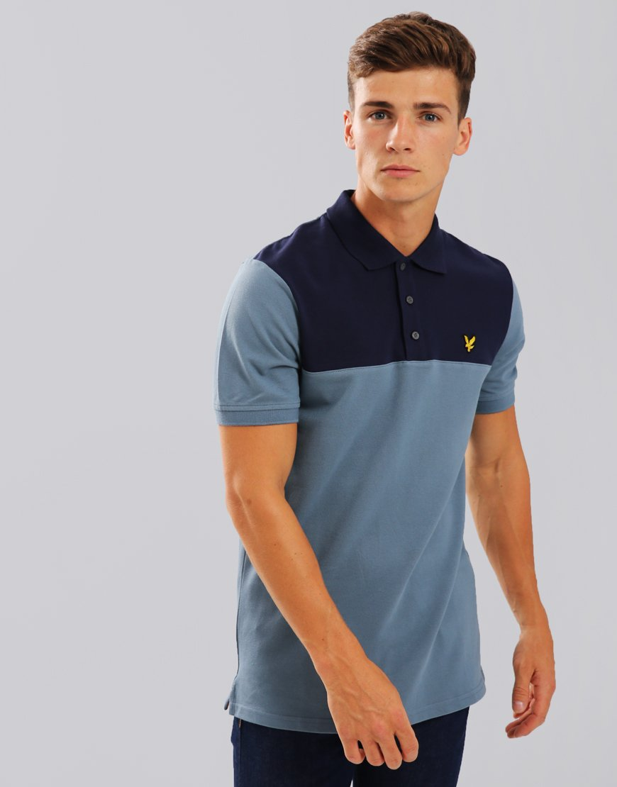 Lyle & Scott Yoke Polo Shirt Mist Blue