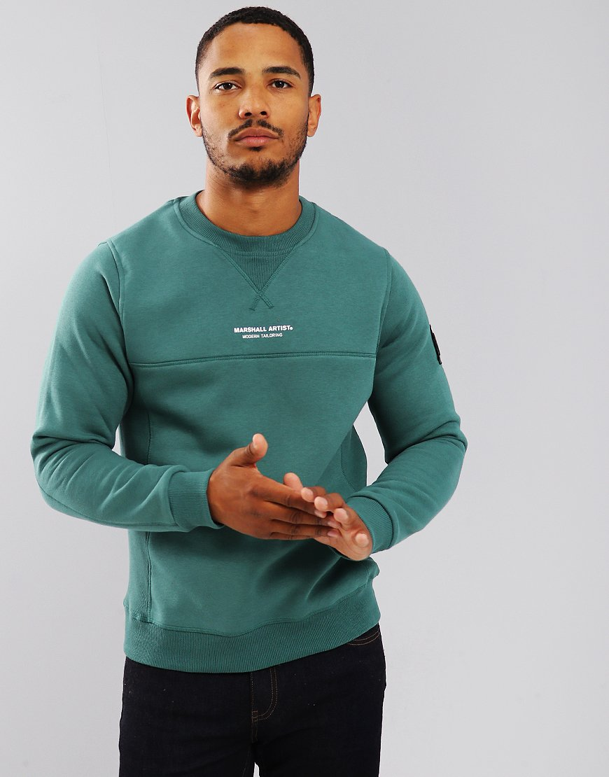 Marshall Artist Siren Crew Neck Sweatshirt Green