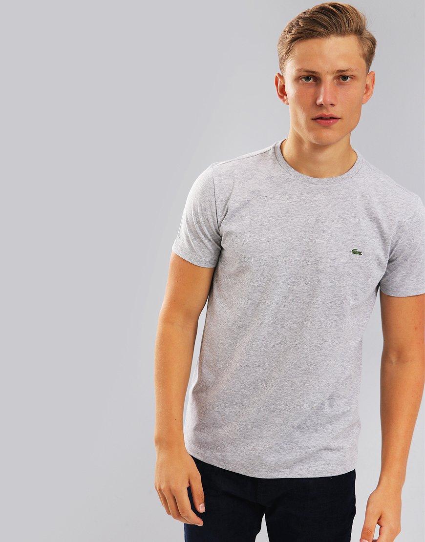 Lacoste Pima Cotton Logo T-Shirt Silver Chine