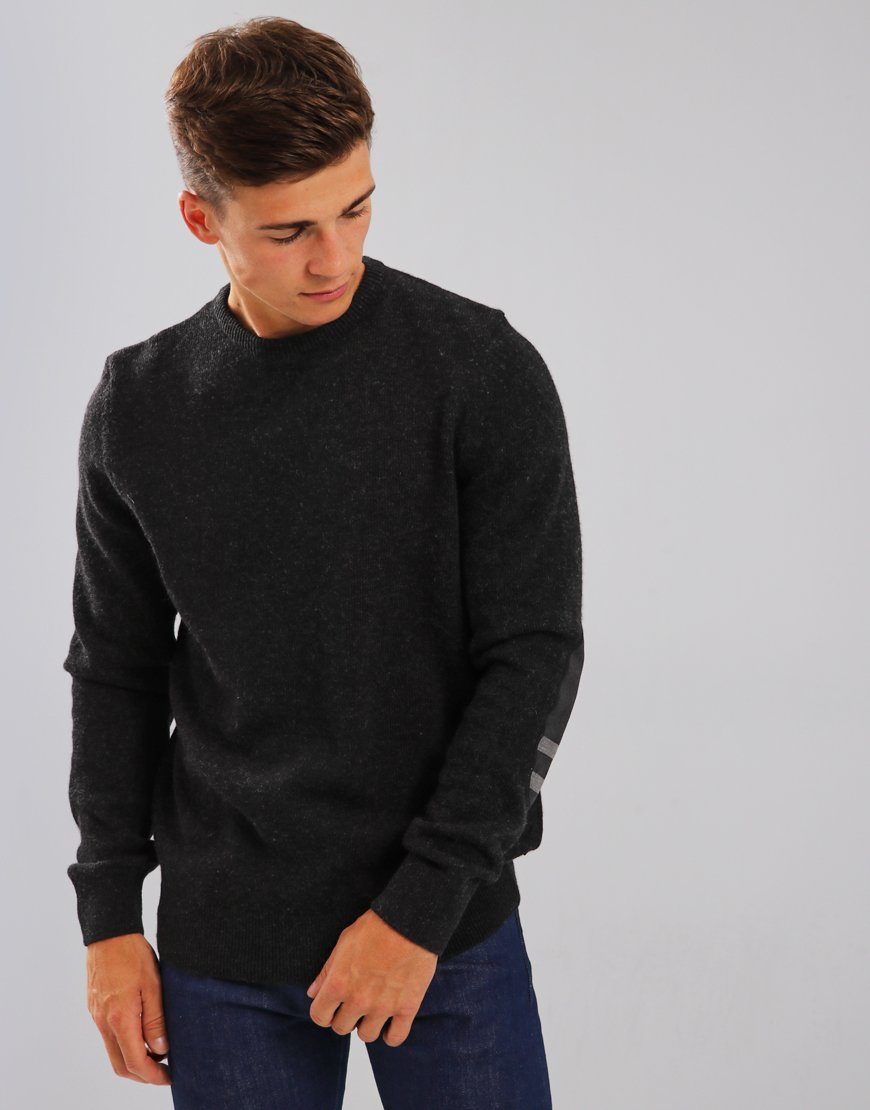 Barbour Harold Crew Neck Knit Graphite