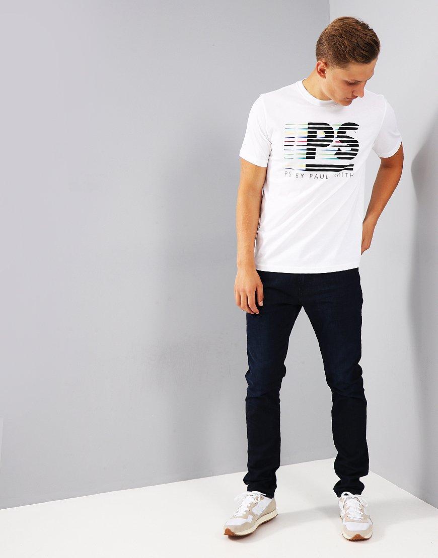 Paul Smith PS Stripe Print T-Shirt White
