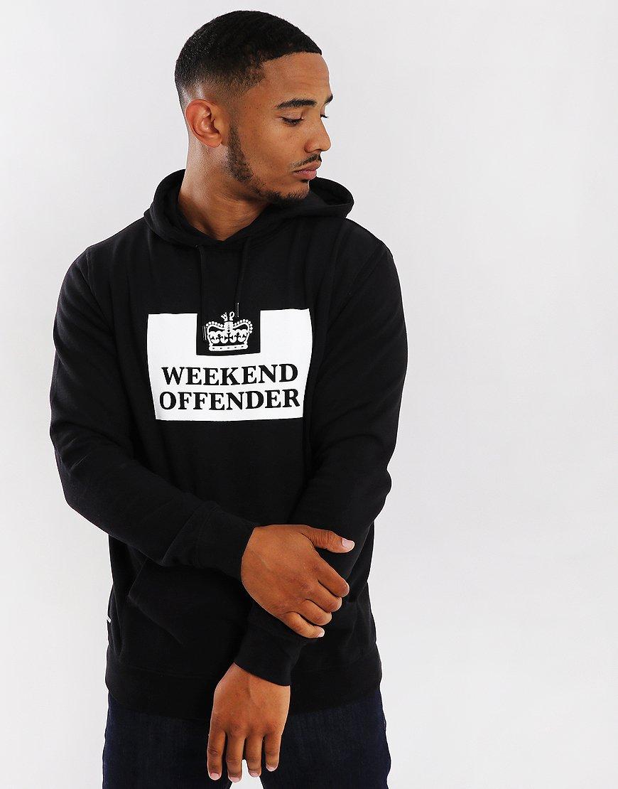 12f628667140 Weekend Offender HM Service Hoodie Black - Terraces Menswear