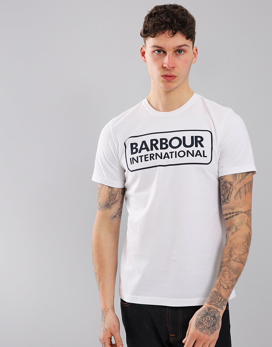 Barbour International Essential Large Logo T-Shirt White