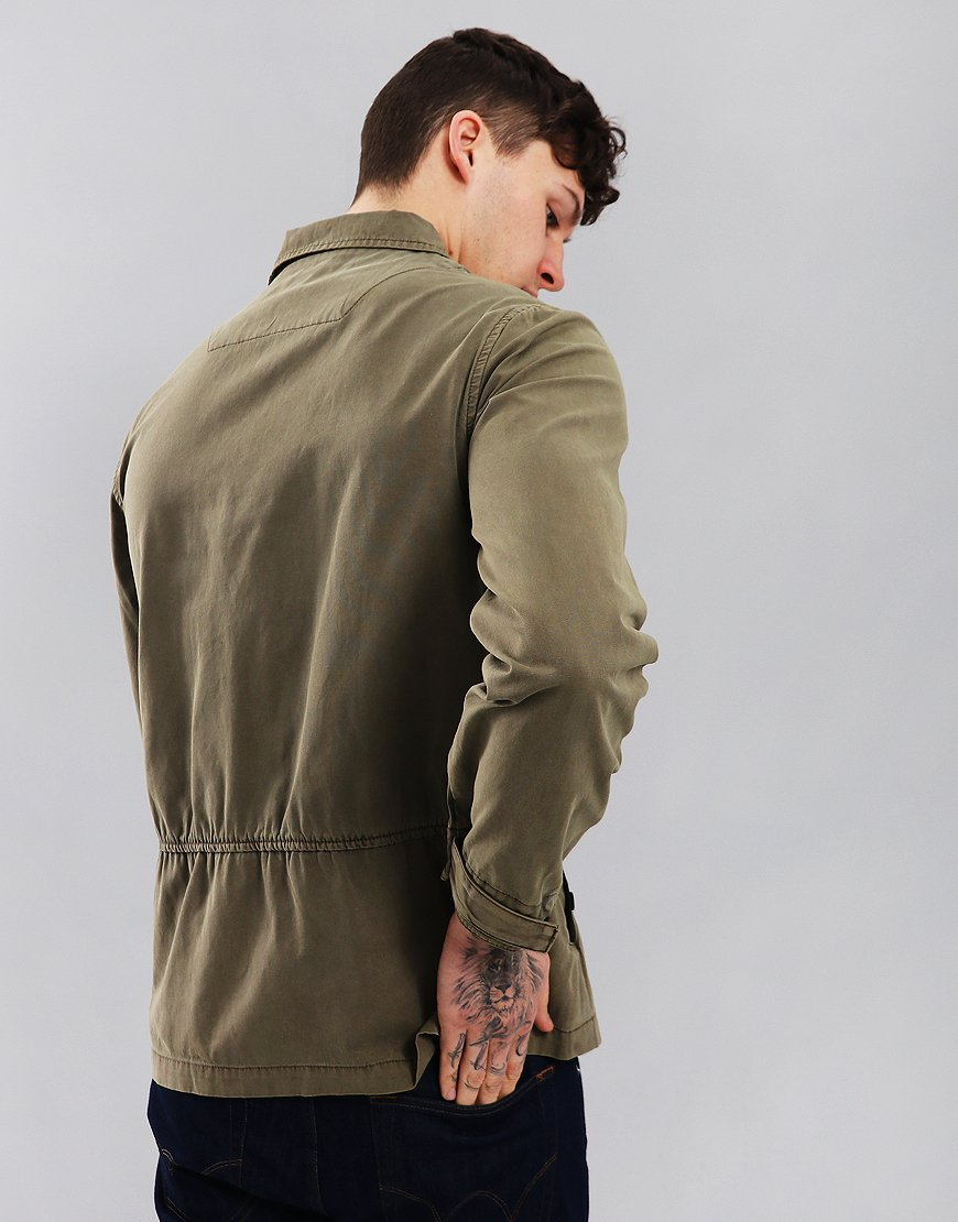 Marshall Artist Garment Dyed Overshirt Khaki
