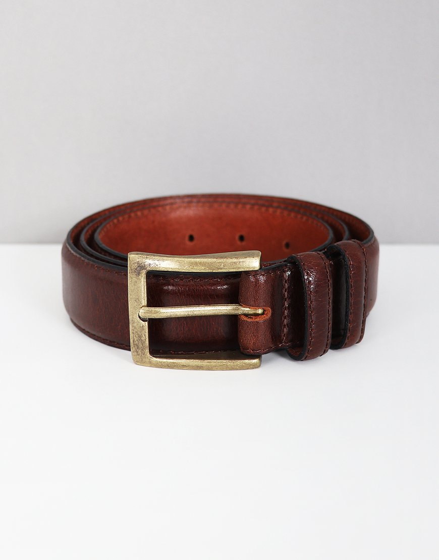 Barbour Leather Belt in Gift Box Brown