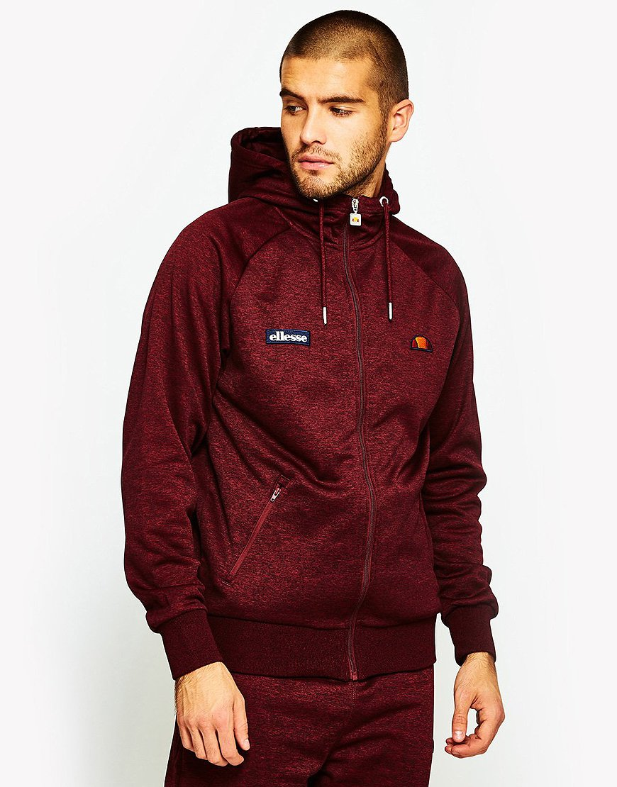 Ellesse Duilio Hooded Track Top Red