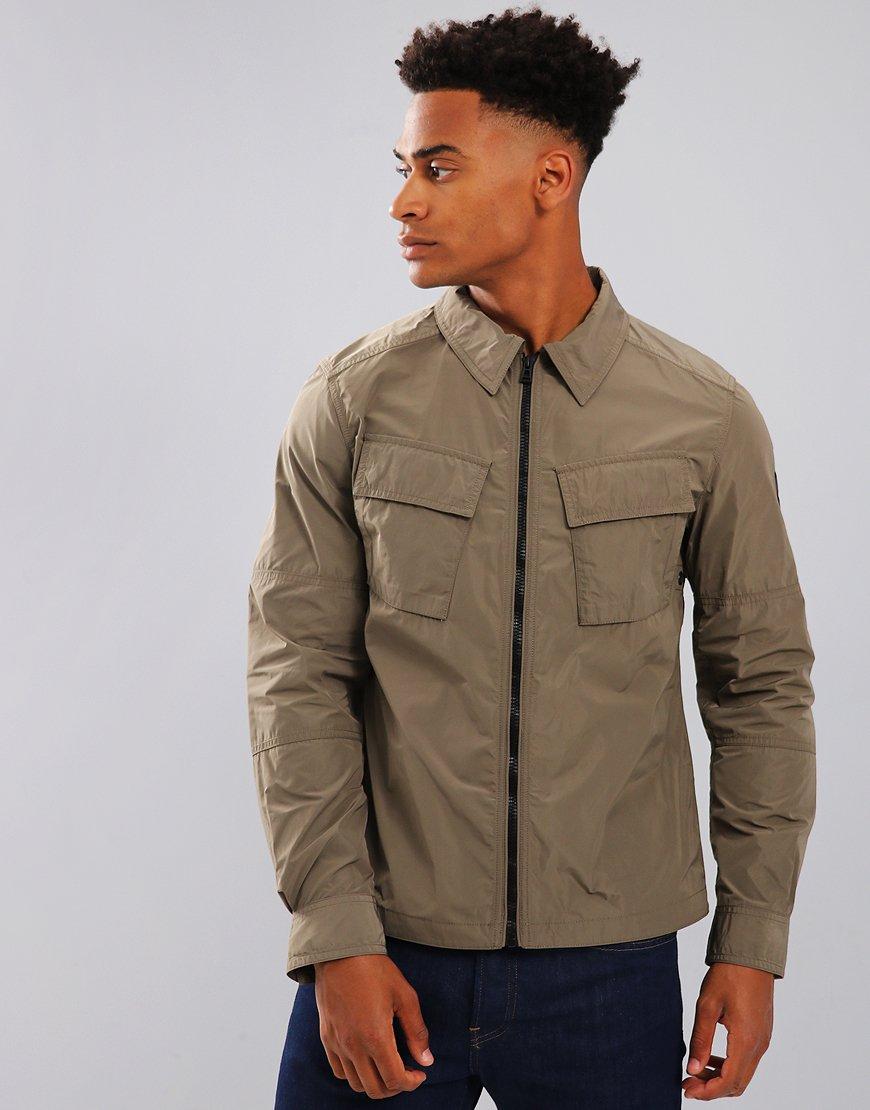 Belstaff Talbrook Overshirt Jacket Humid Green