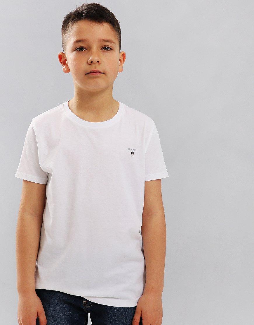 38a22c539352ea Gant Kids Original Shield T-Shirt White - Terraces Menswear