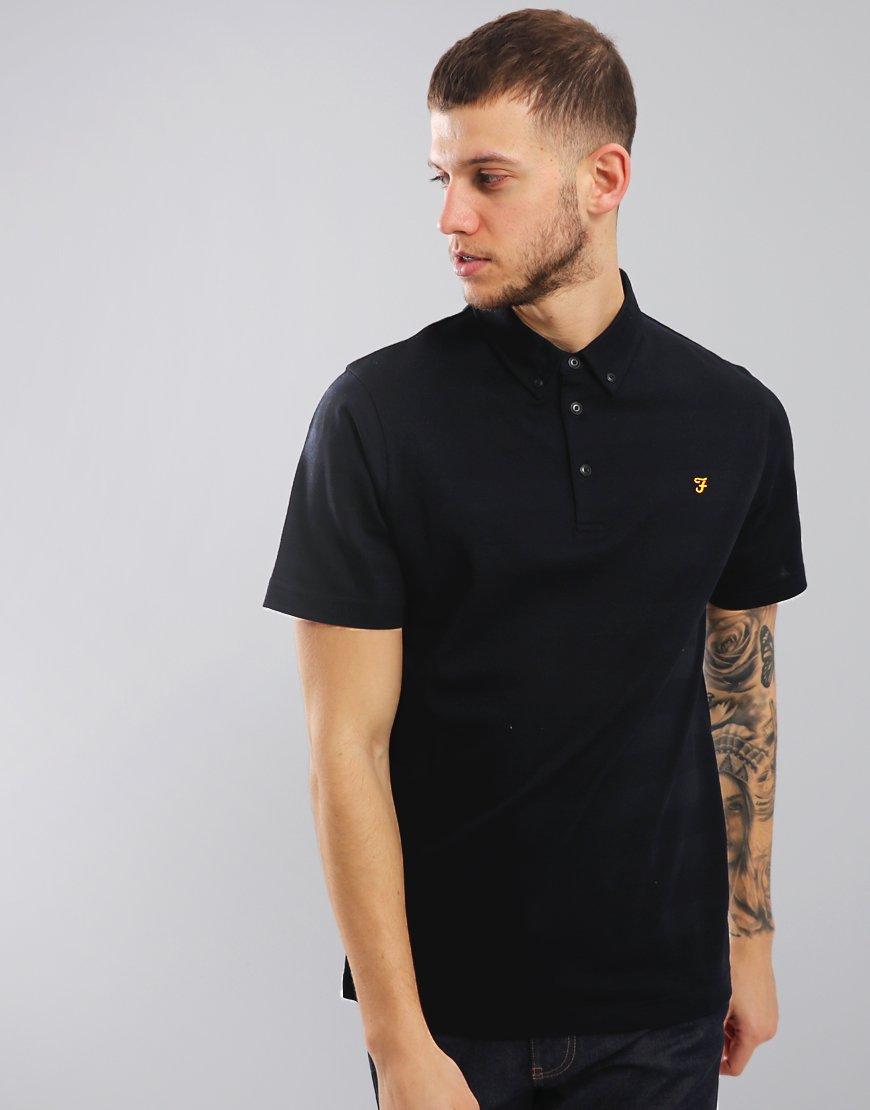 Farah Stapleton Short Sleeved Polo Shirt Navy