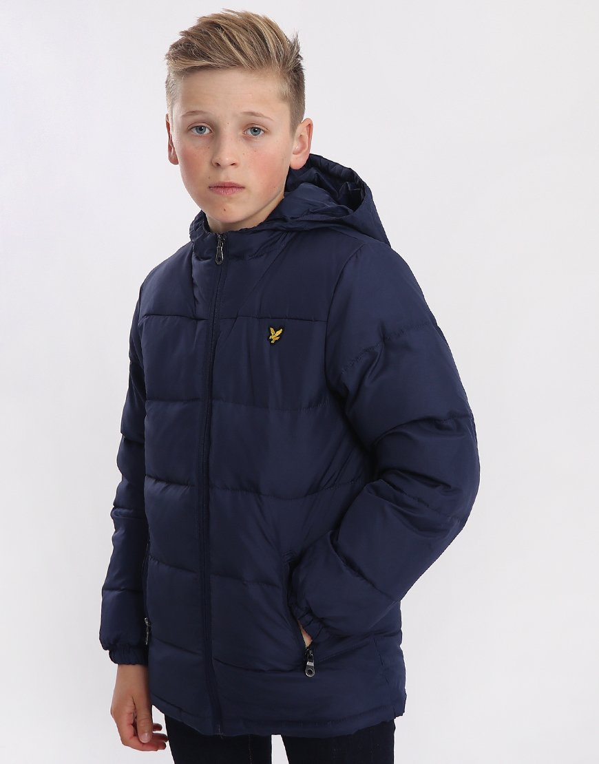 Lyle & Scott Junior Puffa Coat Indigo
