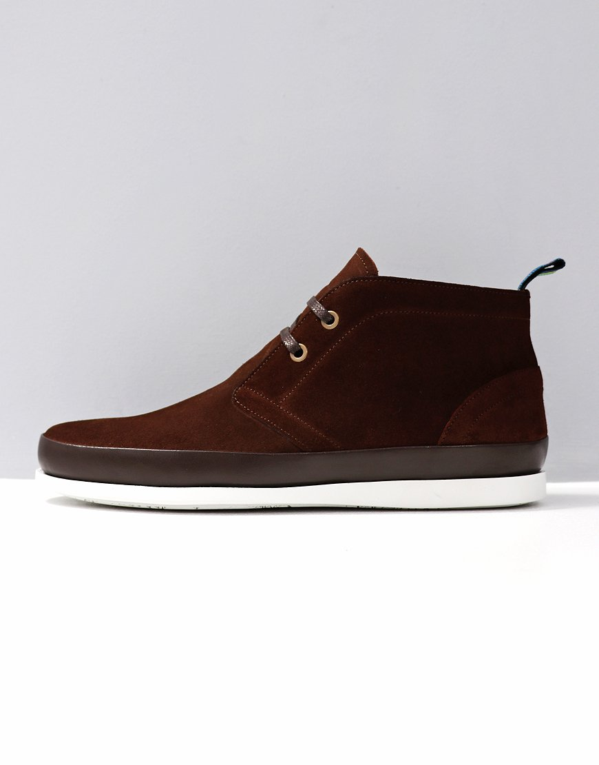 Paul Smith Cleon Suede Boots Dark Brown