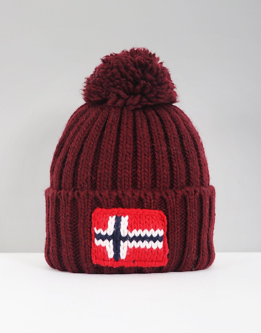 Napapijri Semiury Bobble Hat Red Bourgogne