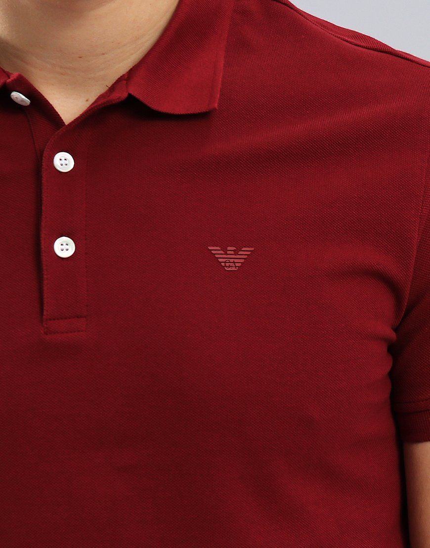 mejor sitio web b3961 9c8f2 Emporio Armani Short Sleeve Polo Shirt Bordeaux