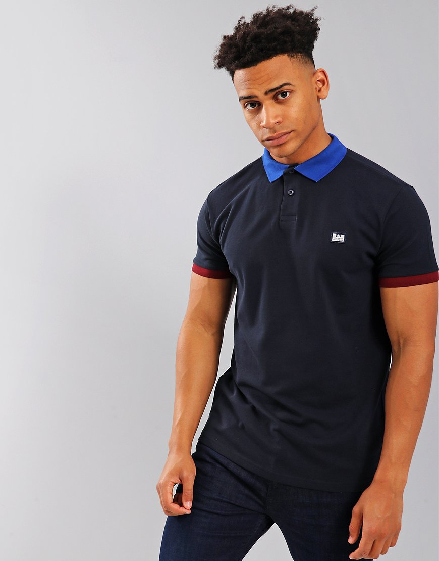 Weekend Offender Gibson Polo Shirt Navy