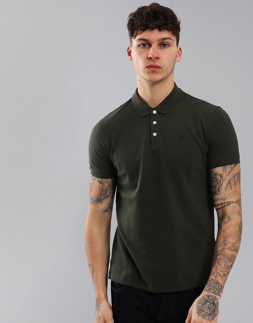 Emporio Armani Short Sleeve Polo Shirt Military Green