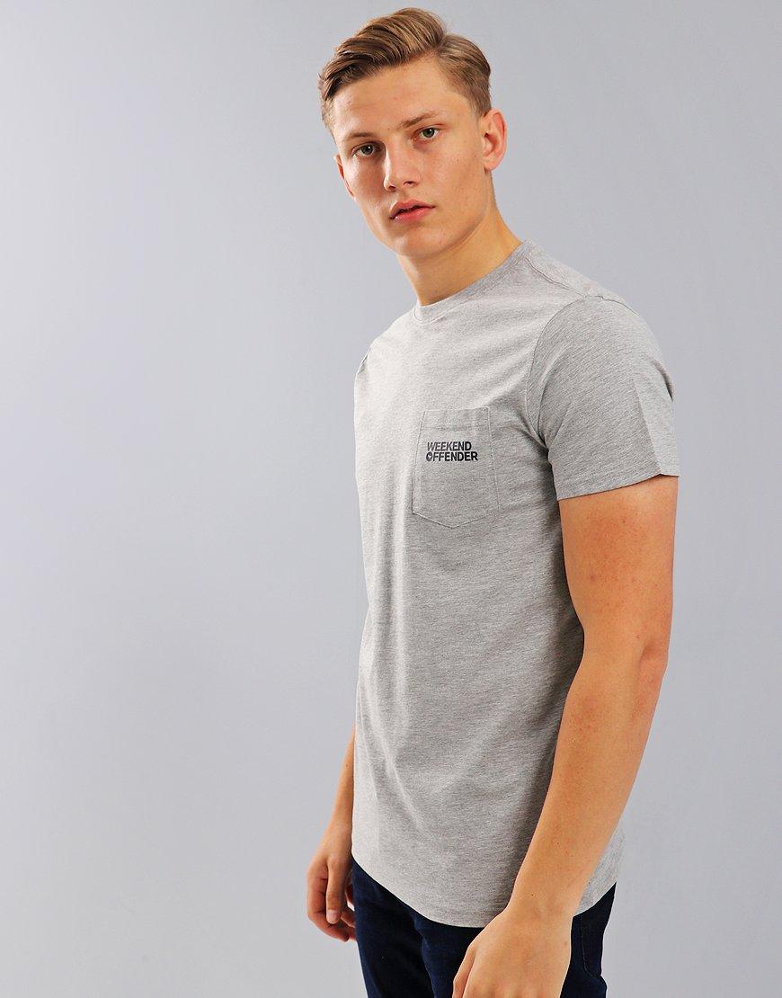 Weekend Offender Squier T-Shirt  Grey Marl