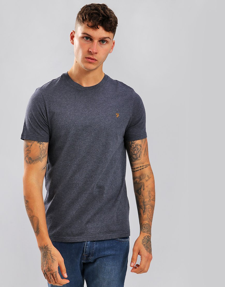 Farah Denny Slim Fit T-Shirt Chain Grey Marl