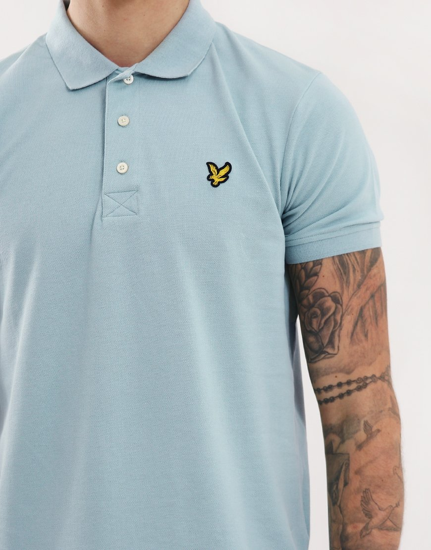87d6e803e Lyle & Scott Plain Polo Shirt Powder Blue - Terraces Menswear