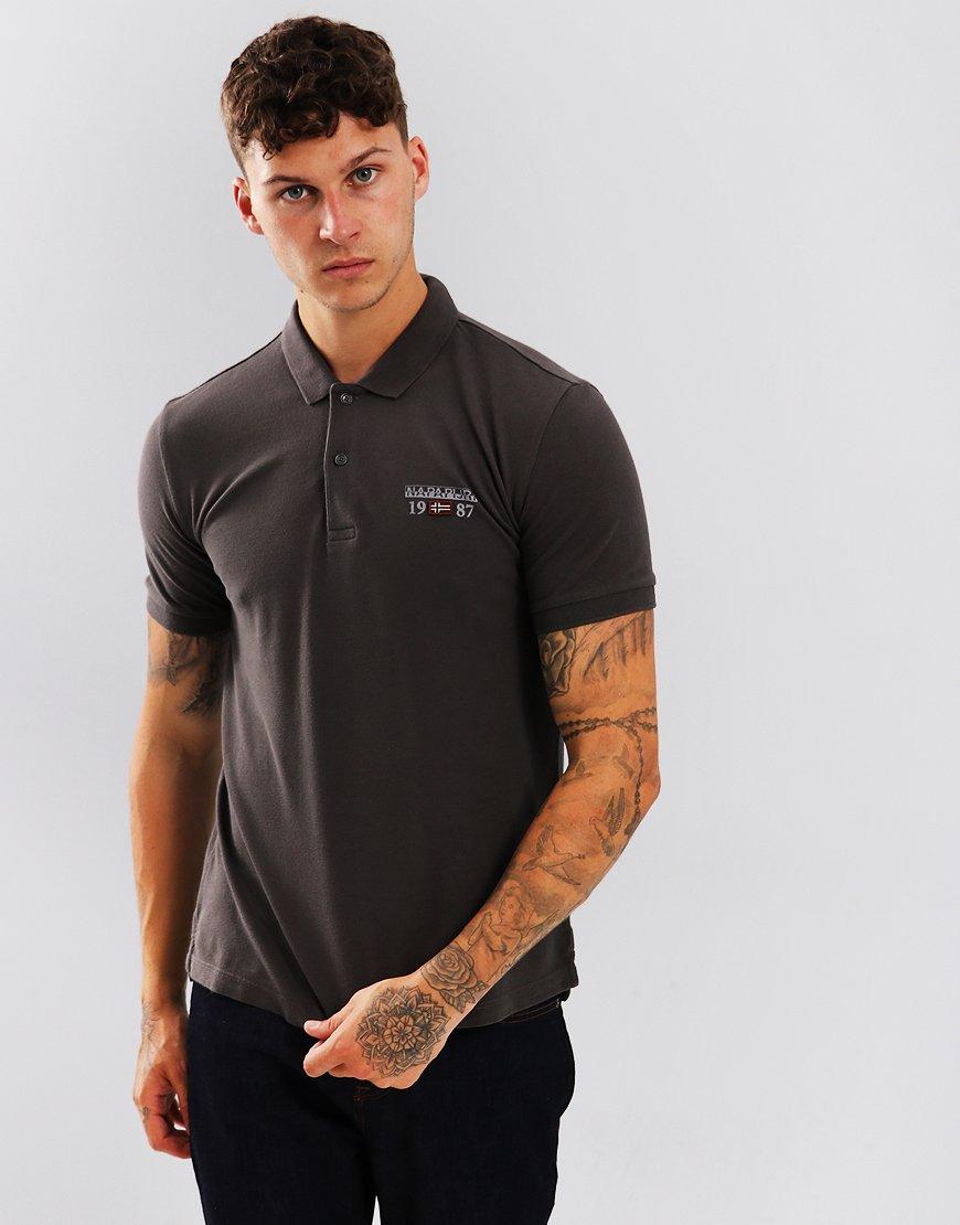 Napapijri Erthow Polo Shirt Dark Grey Solid