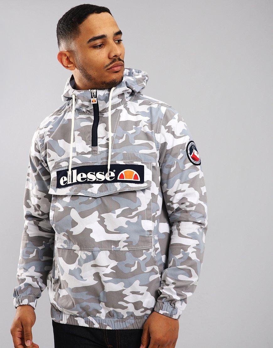 Ellesse Mont Half-Zip Jacket Grey Camo