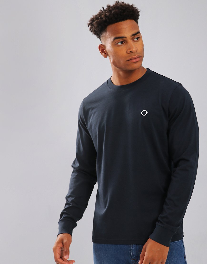 MA.Strum Long Sleeve Icon Tee Navy