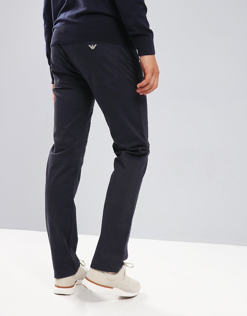 Emporio Armani J45 Slim Fit Chinos Navy Blue