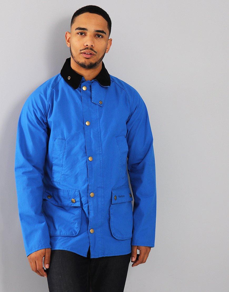 Barbour Washed Bedale Jacket Cobalt Blue