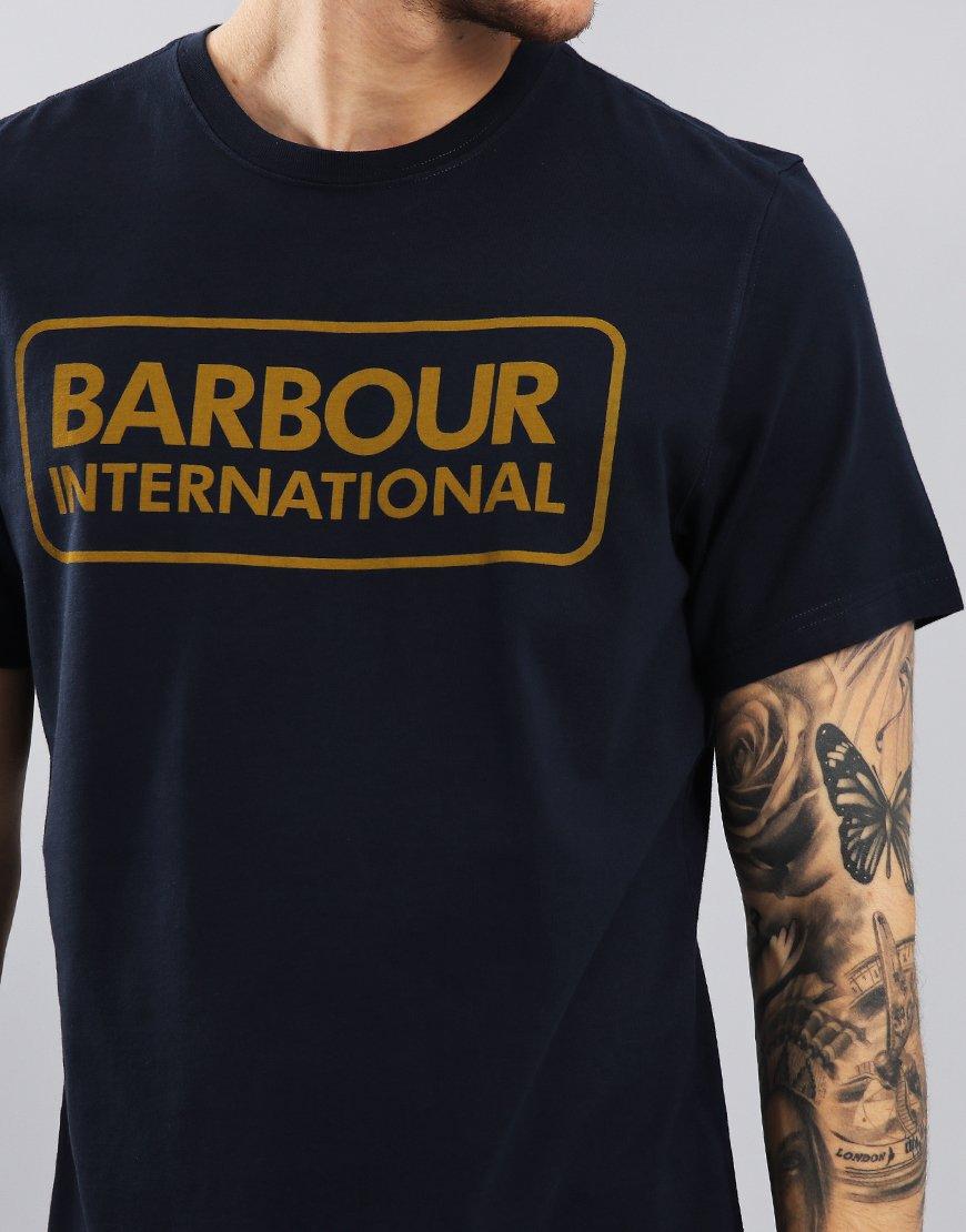 Barbour International Essential Large Logo T-Shirt Navy