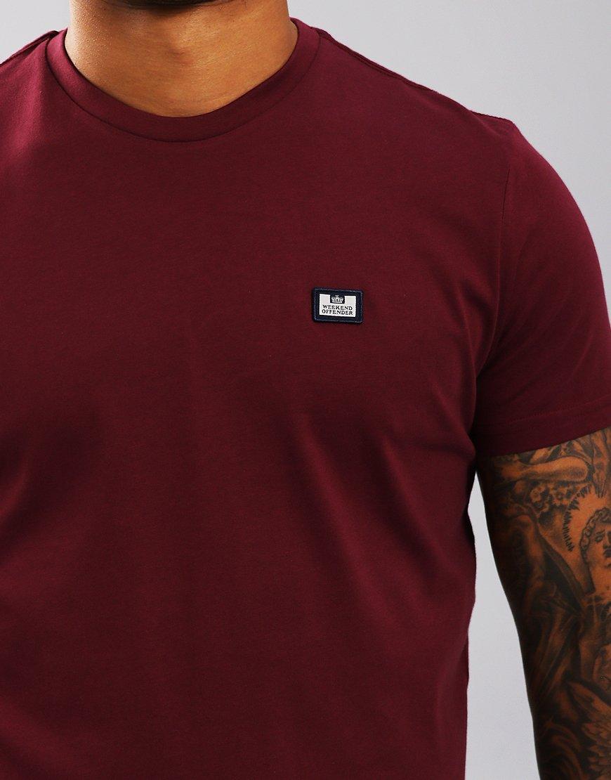 Weekend Offender Kahn T-Shirt Loganberry