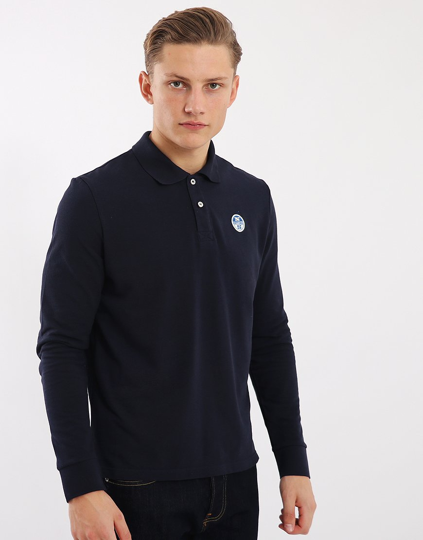 North Sails Bollo Long Sleeve Polo Shirt Navy