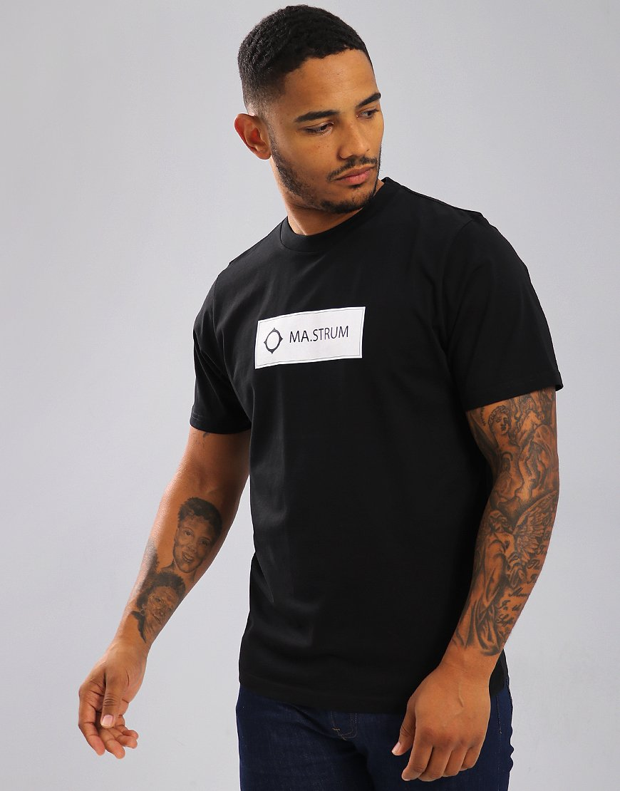 MA.Strum Icon Box Print Logo T-Shirt Black