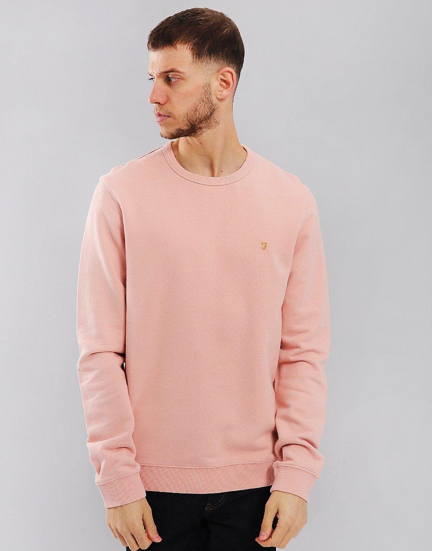 Farah Pickwell Garment Dyed Sweat Rose