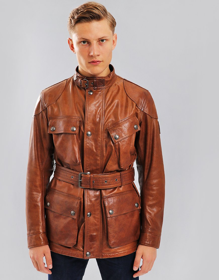 Belstaff Panther Leather Jacket Cognac