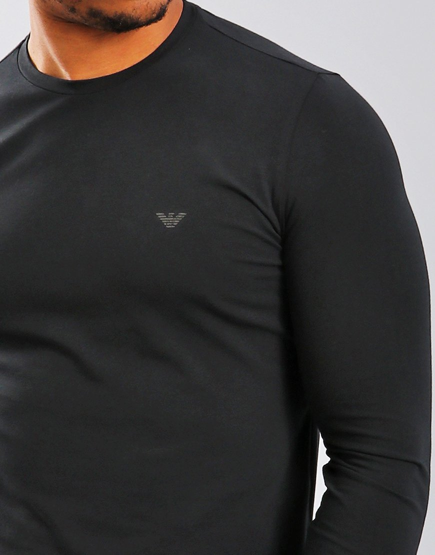 1031268ed85 Emporio Armani Long Sleeve T-Shirt Black - Terraces Menswear