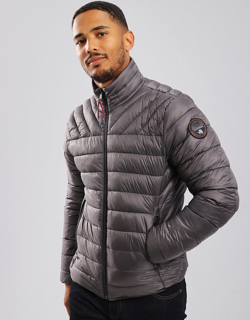 Napapijri Aerons Stand Jacket Dark Grey Solid