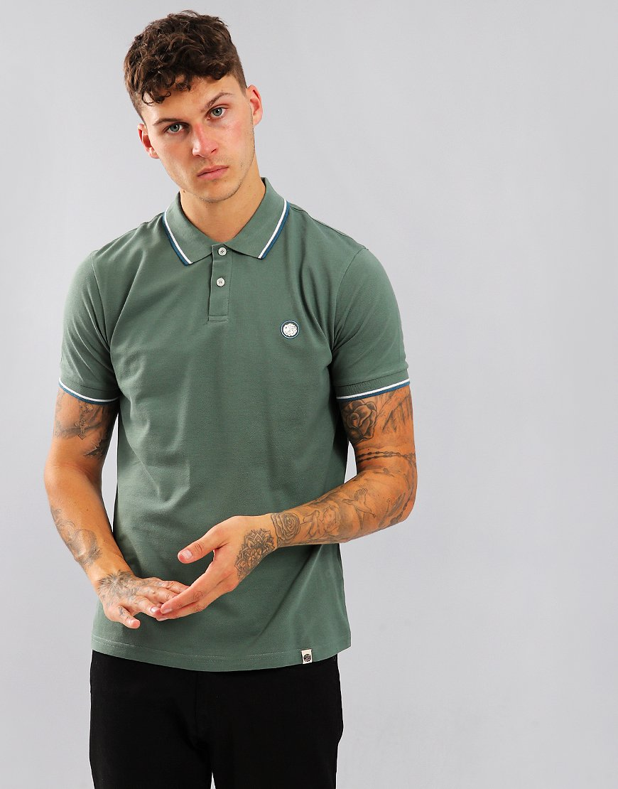 Pretty Green Short Sleeved Barton Polo Shirt Olive