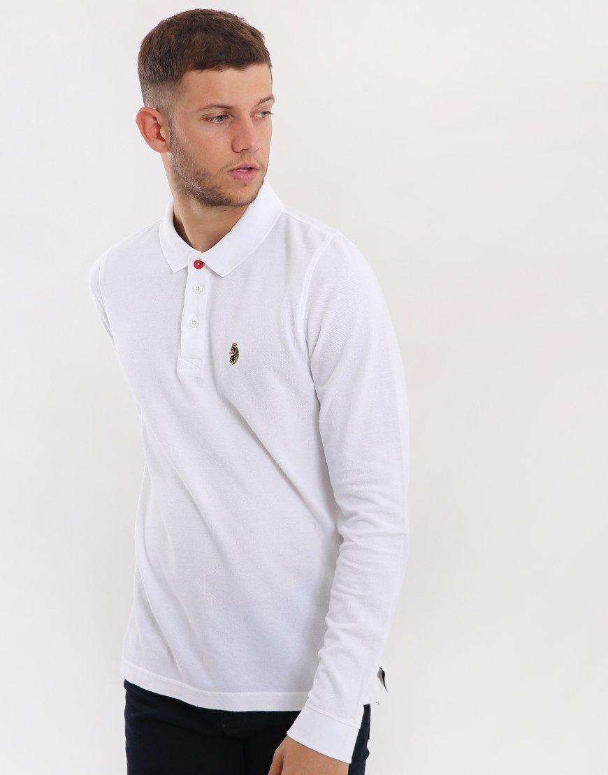Luke 1977 Williams Long Sleeve Polo Shirt White