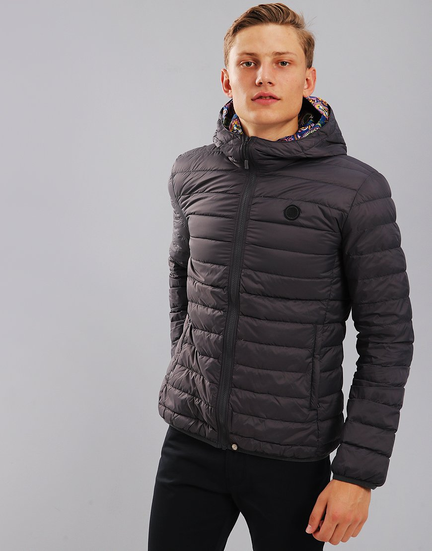 Pretty Green Barker Lightweight Down Jacket Grey