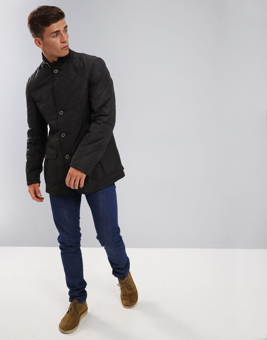 Barbour Lutz Quilted Jacket Black