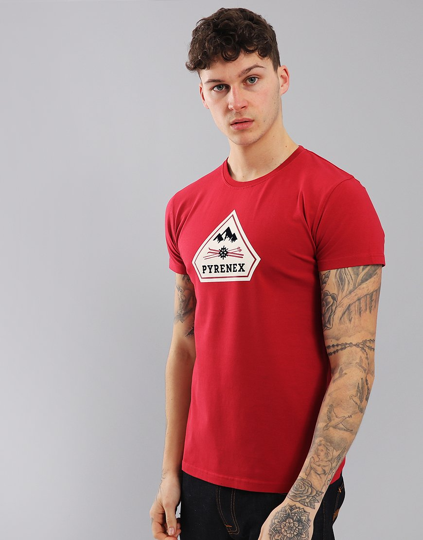 Pyrenex Karel Print T-Shirt Tulipe Red