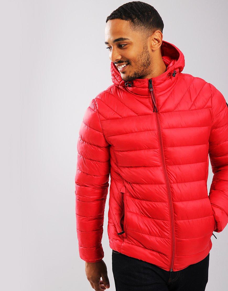 Napapijri Aerons Hooded Jacket Pop Red