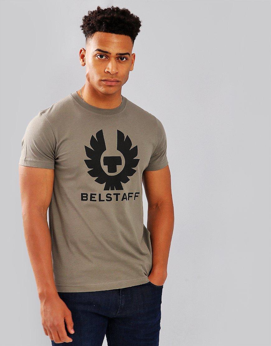 Belstaff Cranstone Phoenix Logo T-Shirt Green Smoke