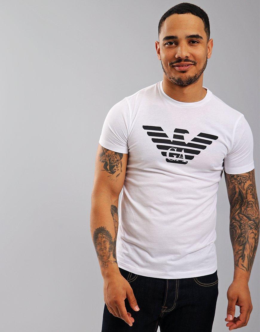 Emporio Armani Eagle Print T-Shirt White