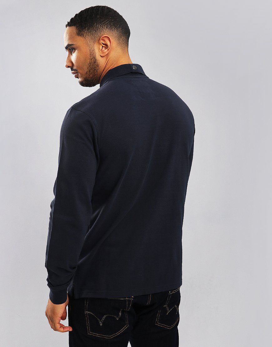 Peaceful Hooligan Steward Long Sleeve Polo Shirt Navy