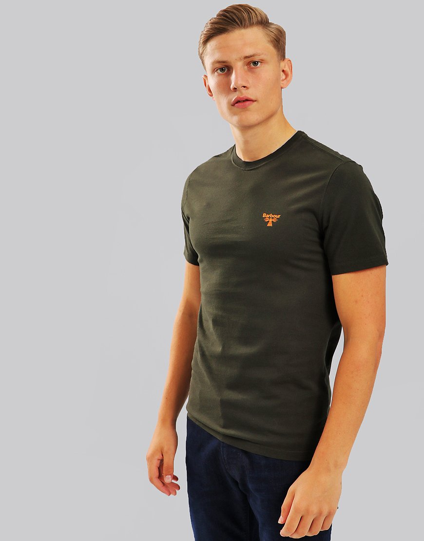 Barbour Beacon Logo T-Shirt Forest